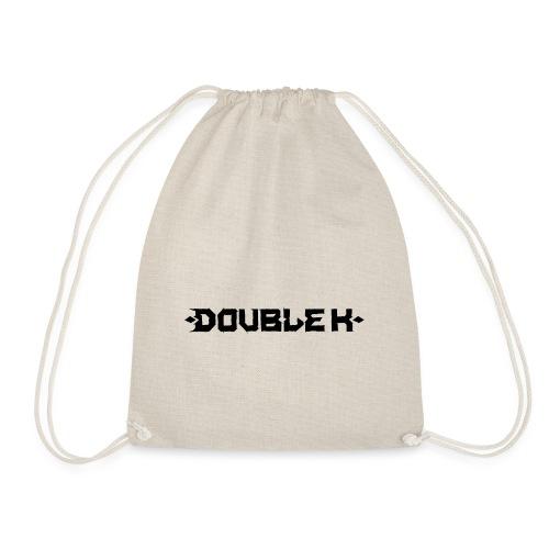 Double K Schriftzug Black - Turnbeutel