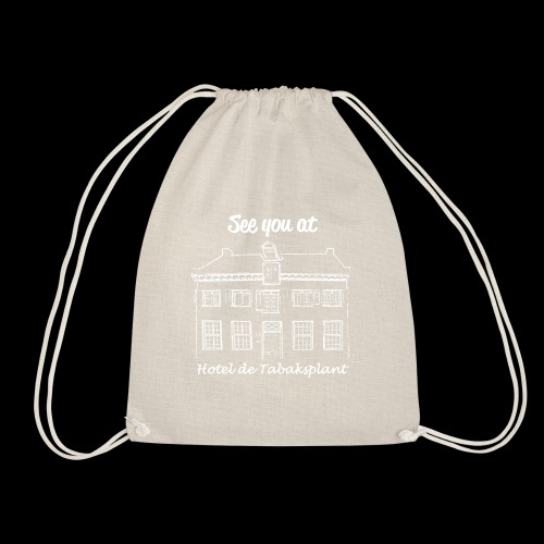 See you at Hotel de Tabaksplant WHITE - Drawstring Bag