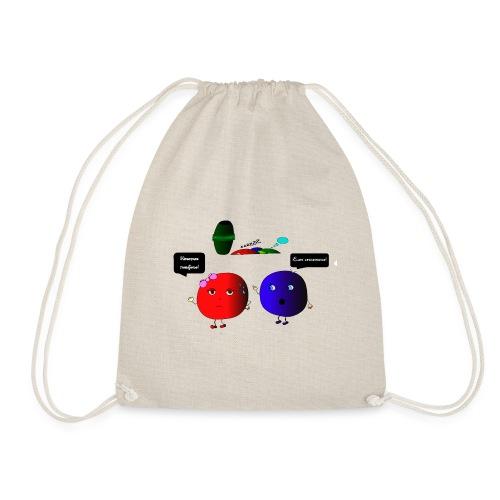 Diseño parchís camiseta - Mochila saco