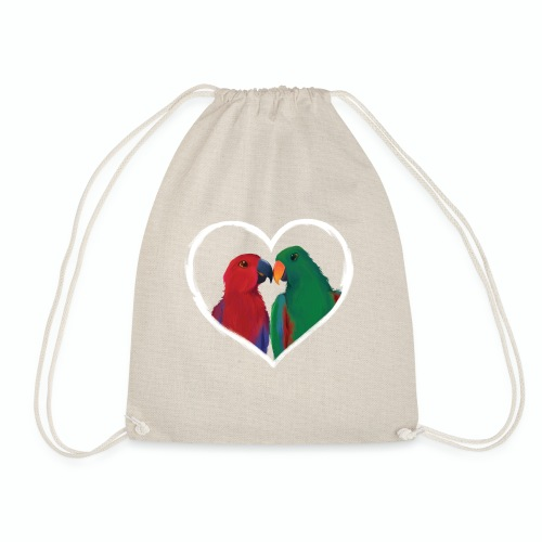 parrots heart - Drawstring Bag