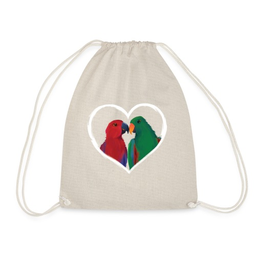 parrots heart - Drawstring Bag