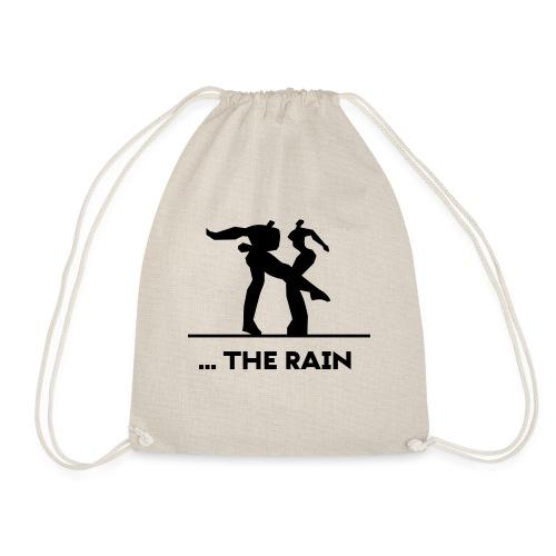 logo schwarzweiss the rain - Turnbeutel
