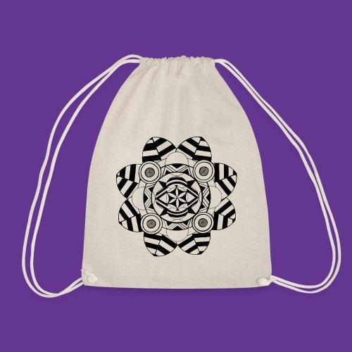 Mandala, Blume , Kunstwerk - Turnbeutel