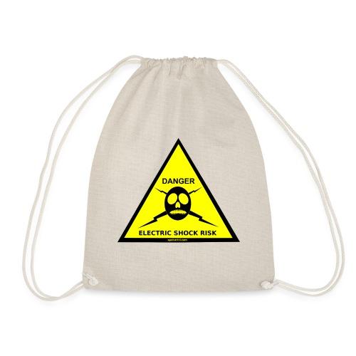 DANGER-ELECTRIC-SHOCK-RISK-SIGN - Drawstring Bag