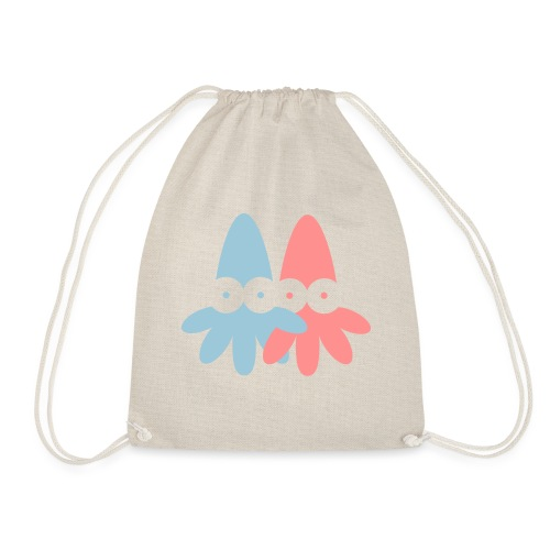 2 Squids Vector - choose design colours - Drawstring Bag