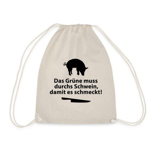 Gemüse Grill Schwein Fleisch Vegetarier Steak - Drawstring Bag