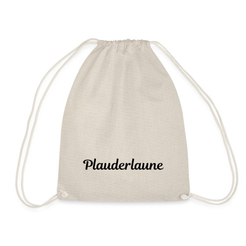 Plauderlaune Black Edition - Turnbeutel