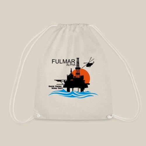 Fulmar Alpha Oil Rig Platform North Sea Aberdeen - Drawstring Bag