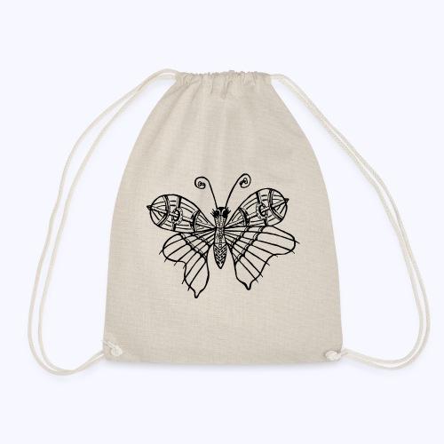 Schmetterling schwarz - Turnbeutel
