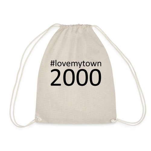 lovemytown2000zwart - Gymtas