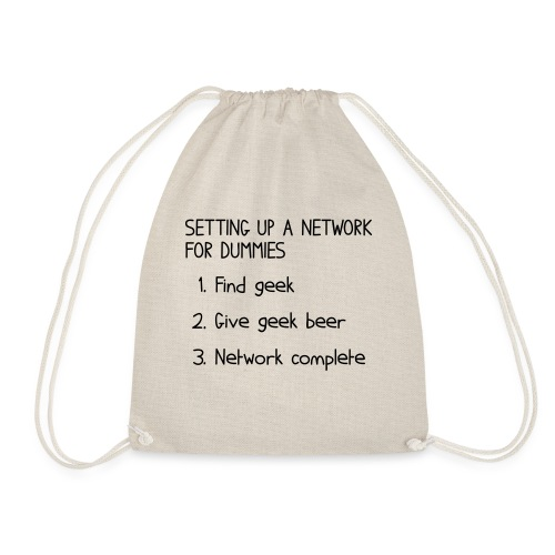 Setting up a network for dummies - Drawstring Bag