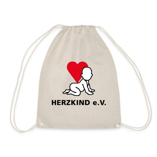 Herzkind Logo Wort Bildmarke ohne Unterzeile PFADE - Turnbeutel