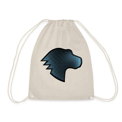 MDN Blue Gradient Dino - Drawstring Bag
