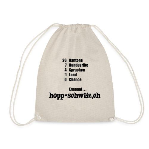 Egal hopp-schwiiz.ch - Turnbeutel
