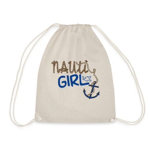Nauti Girl Nautical Boat Shirt - Drawstring Bag