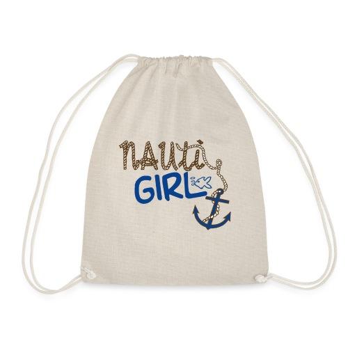 Nauti Girl Nautical Boat Shirt - Drawstring Bag