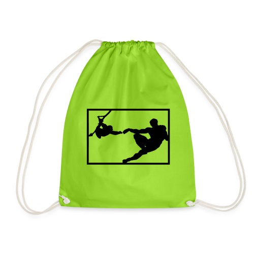 How the monkey created the human - Drawstring Bag
