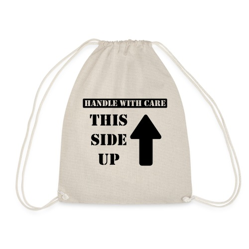 Handle with care / This side up - PrintShirt.at - Turnbeutel