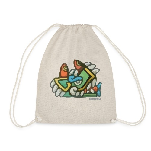 Aztec Crocodile - Drawstring Bag