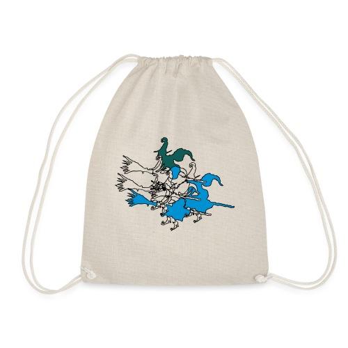 Witches on broomsticks Men's T-Shirt - Drawstring Bag