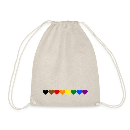 Philly Rainbow Hearts - Drawstring Bag