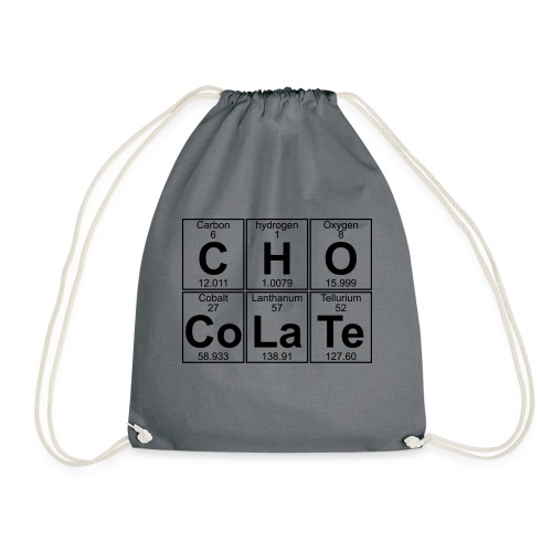 C-H-O-Co-La-Te (chocolate) - Full - Drawstring Bag
