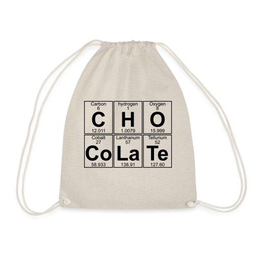 C-H-O-Co-La-Te (chocolate) - Full - Drawstring Bag