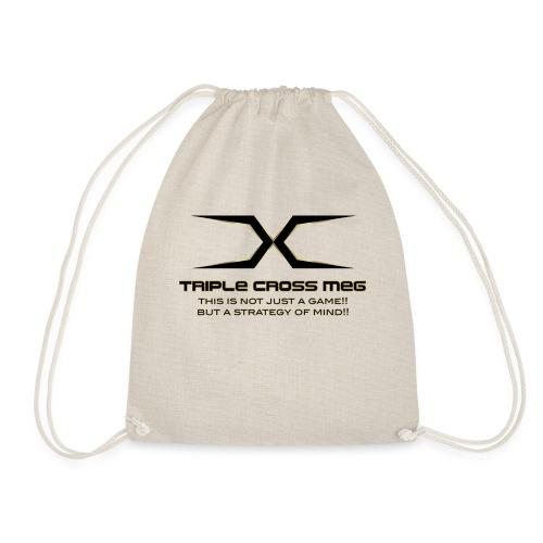 TRIPLE CROSS MEG - Drawstring Bag