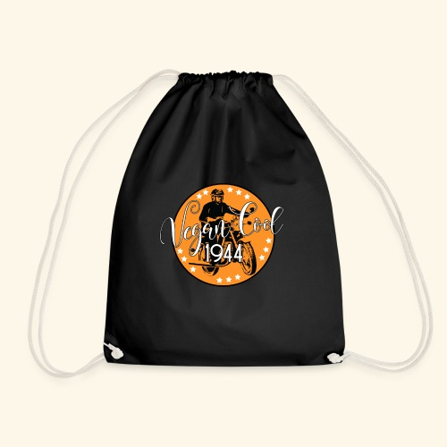 Vegan Cool Vintage Bike Club - Drawstring Bag