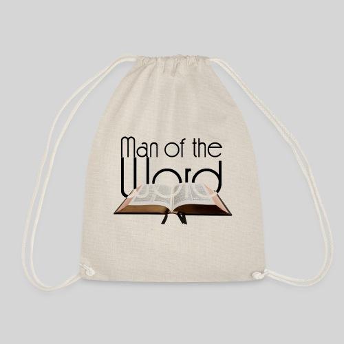 man of the Word - Mann des Wortes - der Bibel - Turnbeutel