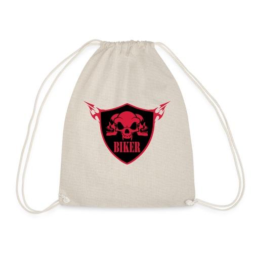 biker3 - Drawstring Bag