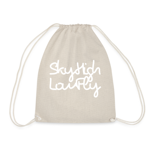 SkyHighLowFly - Men's Sweater - White - Drawstring Bag