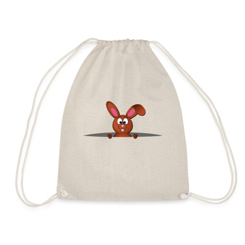 Cute bunny in the pocket - Sacca sportiva