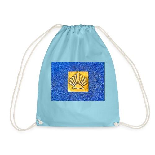 Scallop Shell Camino de Santiago - Drawstring Bag