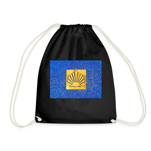 Scallop Shell Camino de Santiago - Drawstring Bag