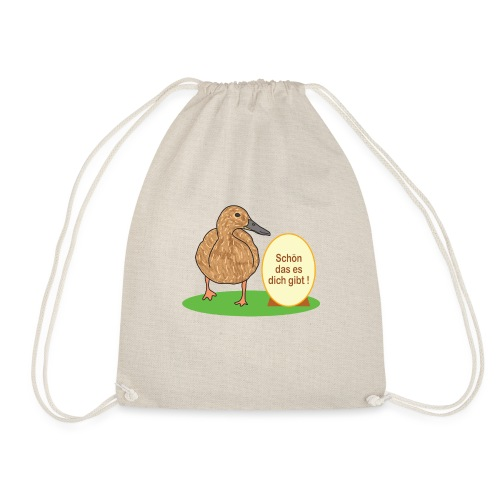 Ente mit Ei - Turnbeutel