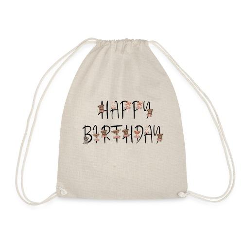 Happy Birthday - Turnbeutel