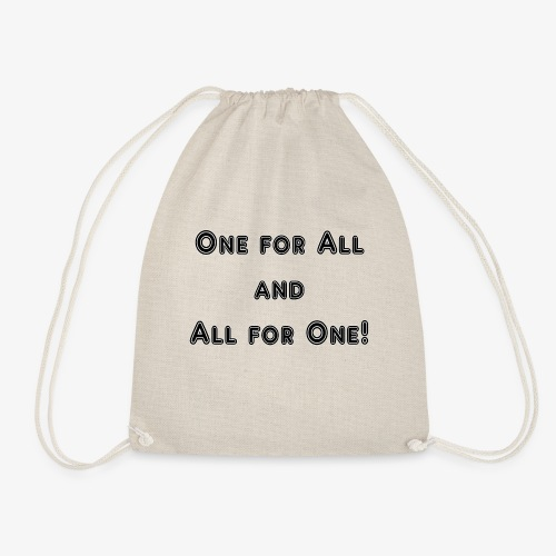 One for All an All for One - Turnbeutel