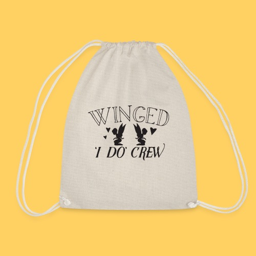 Winged 'i do' crew with cute fairies - Drawstring Bag