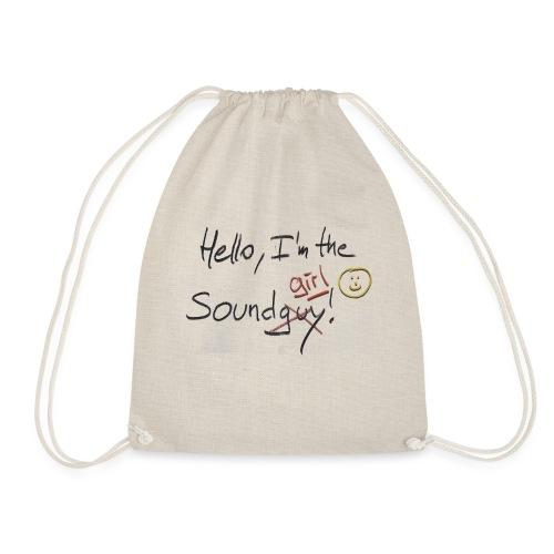 Hello I'm the sound girl - Drawstring Bag