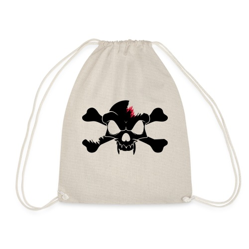 SKULL N CROSS BONES.svg - Drawstring Bag