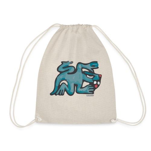 Aztec Lizard/Net - Drawstring Bag