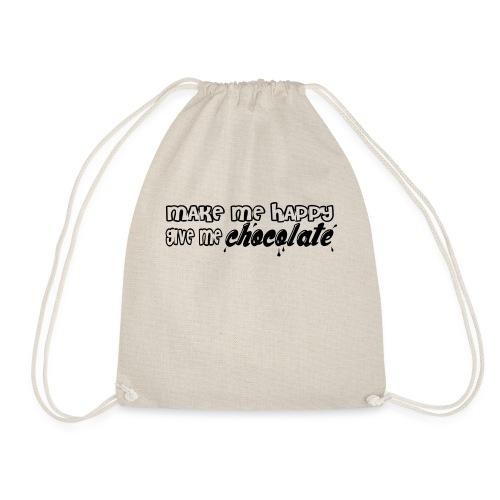 make me happy give me chocolate T-Shirts - Mochila saco
