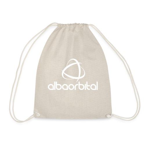 Alba Orbital Logo - White - Drawstring Bag