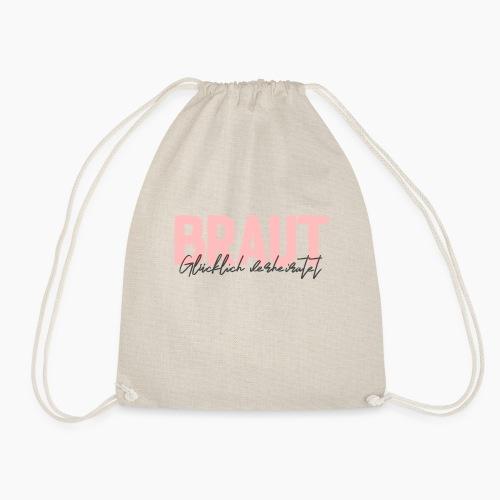 Braut - glücklich verheiratet - Drawstring Bag