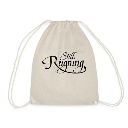 still reigning black - Drawstring Bag