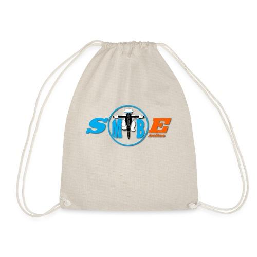 SMTBE biker logo DECAL orange big png - Drawstring Bag