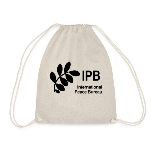 International Peace Bureau IPB Logo black - Drawstring Bag