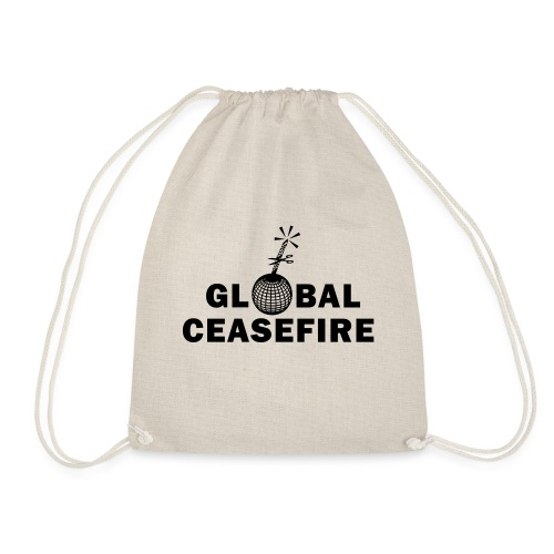 global ceasefire - Drawstring Bag