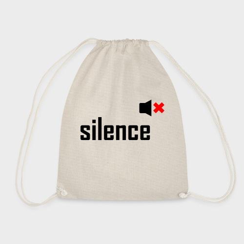 silence - Turnbeutel